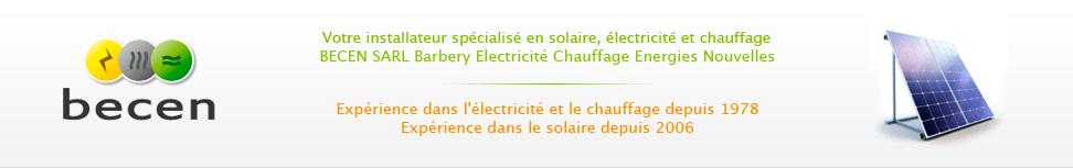 Installateur panneaux solaires, photovoltaique, chauffe eau, chauffage et electricité